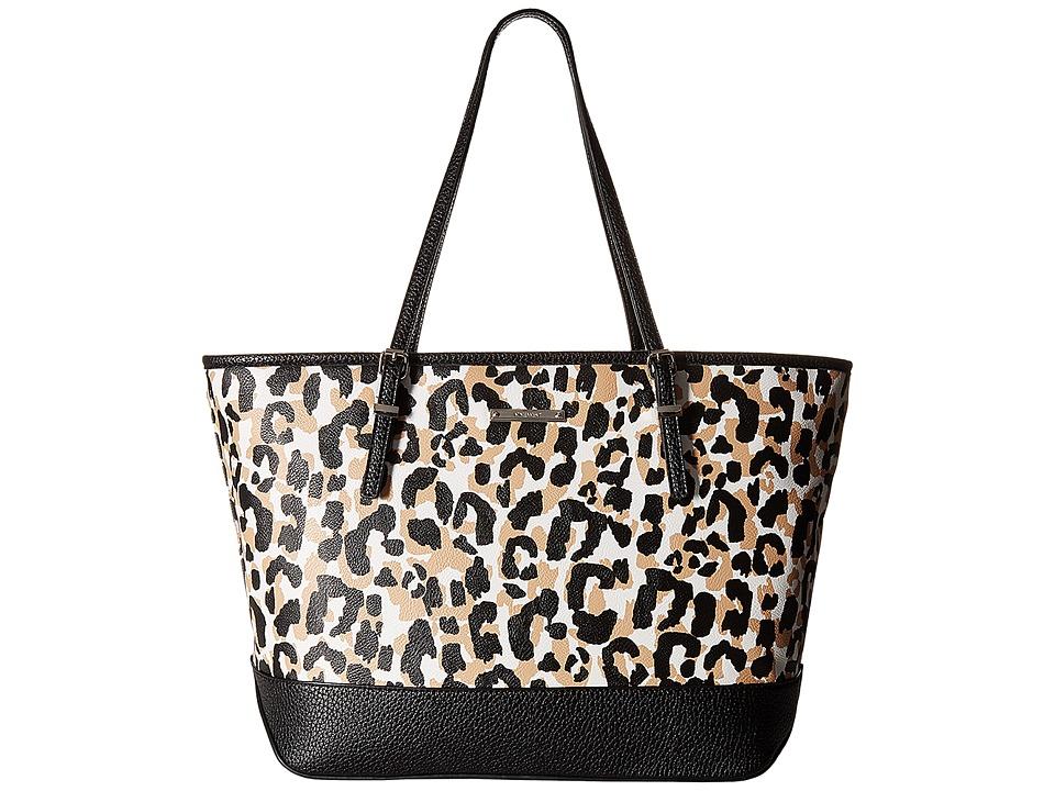 Nine West - It Girl Tote (Black/Camel Multi/Black/Black) Tote Handbags