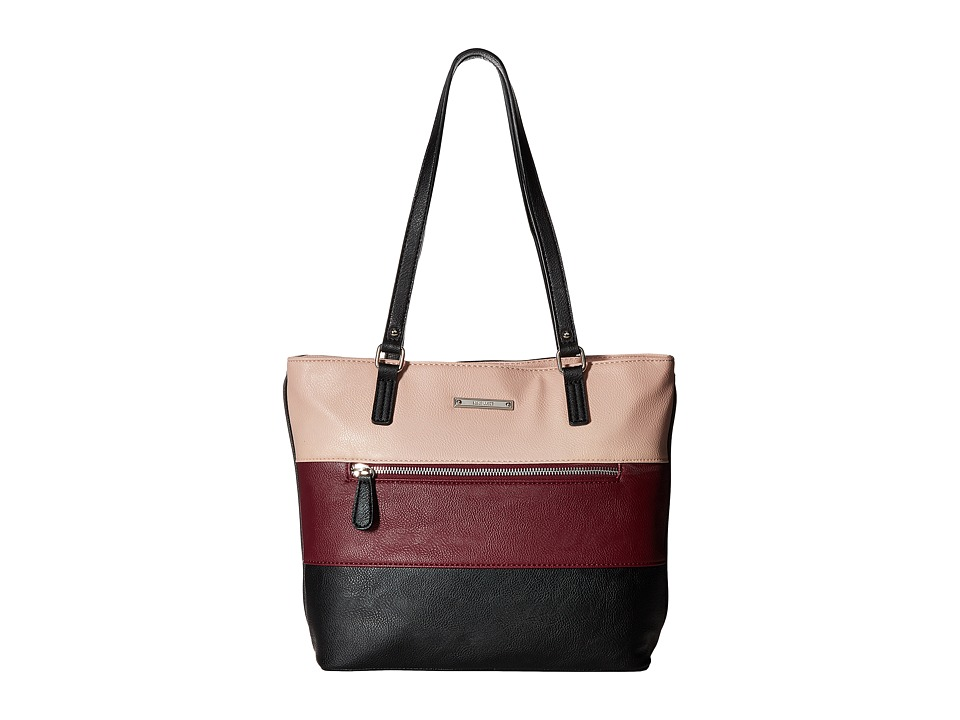 Nine West - Stripe Set Tote (Black/Crimson/New Mauve/Black) Tote Handbags