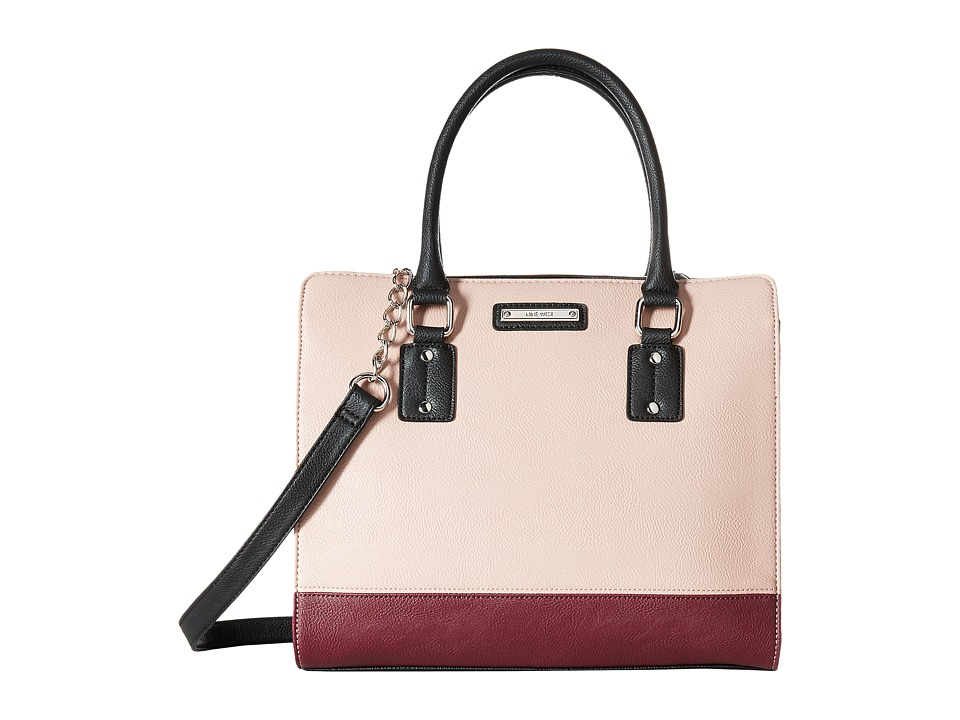 Nine West - You and Me Satchel (New Mauve/Crimson/Black) Satchel Handbags
