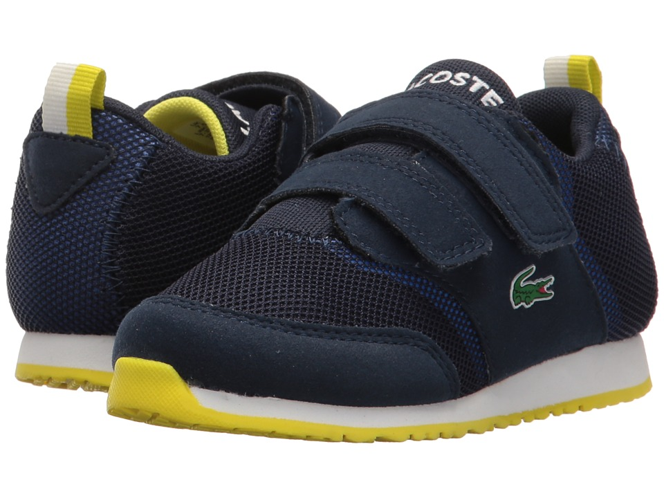 Lacoste Kids - L.ight 117 1 SP17 (Toddler/Little Kid) (Navy/Blue) Kids Shoes