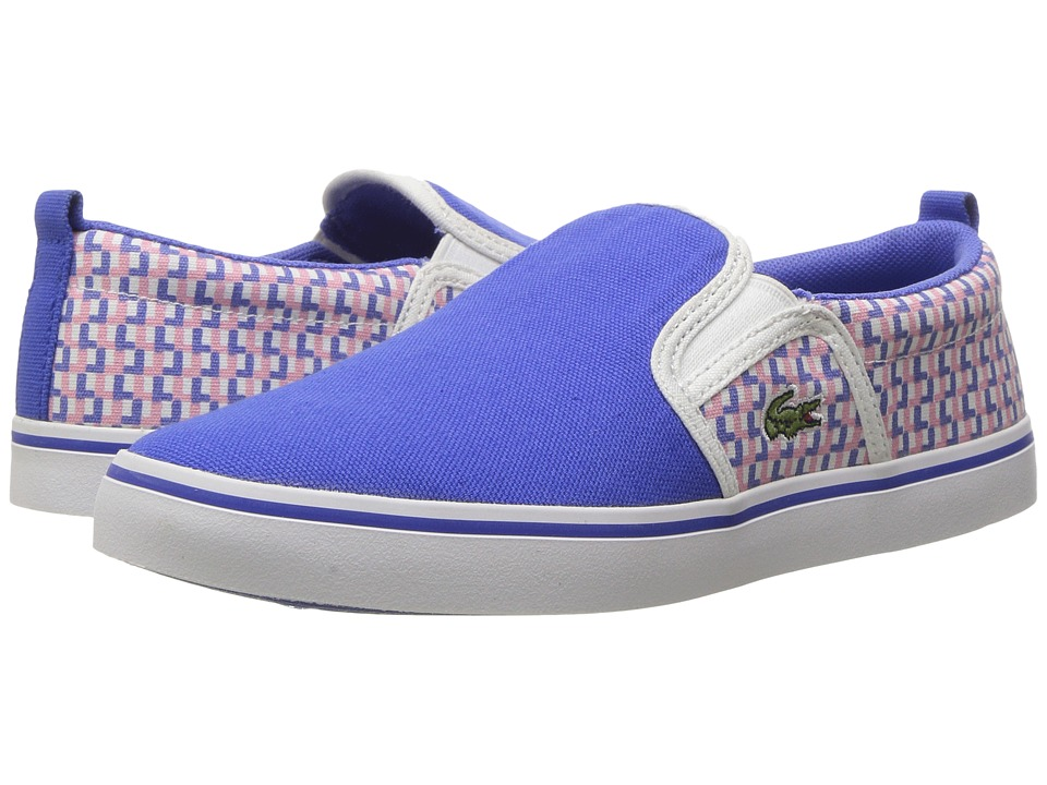 Lacoste Kids Gazon 117 2 SP17 (Little Kid) (Blue/Pink) Girls Shoes
