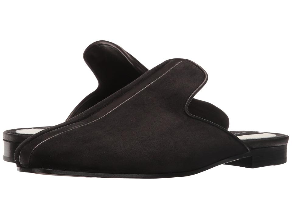 rag & bone - Savoy Loafer (Black Suede) Women's Shoes