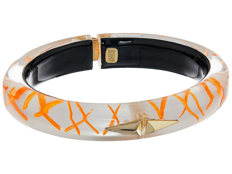 Alexis Bittar - Golden Studded Hinge (Rutilated Neon) Bracelet