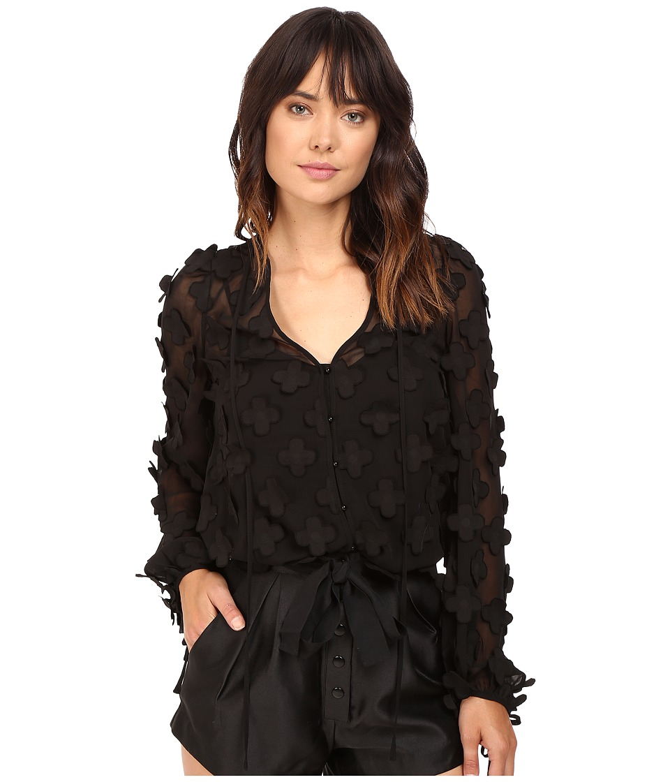 alice McCALL - In Bloom Blouse (Black) Women's Blouse