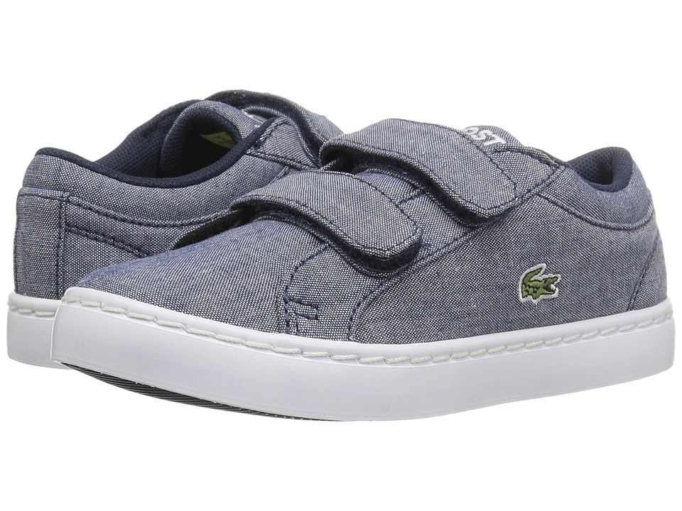Lacoste Kids - Straightset Lace 117 3 SP17 (Toddler/Little Kid) (Navy) Kids Shoes