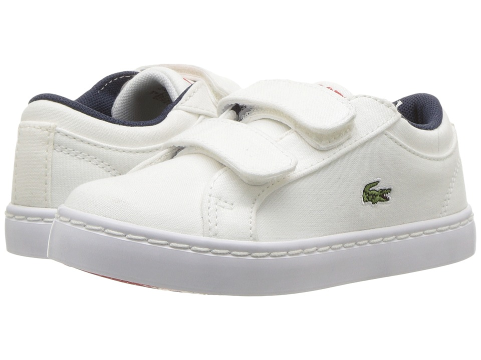 Lacoste Kids - Straightset Lace 117 3 SP17 (Toddler/Little Kid) (White) Kids Shoes