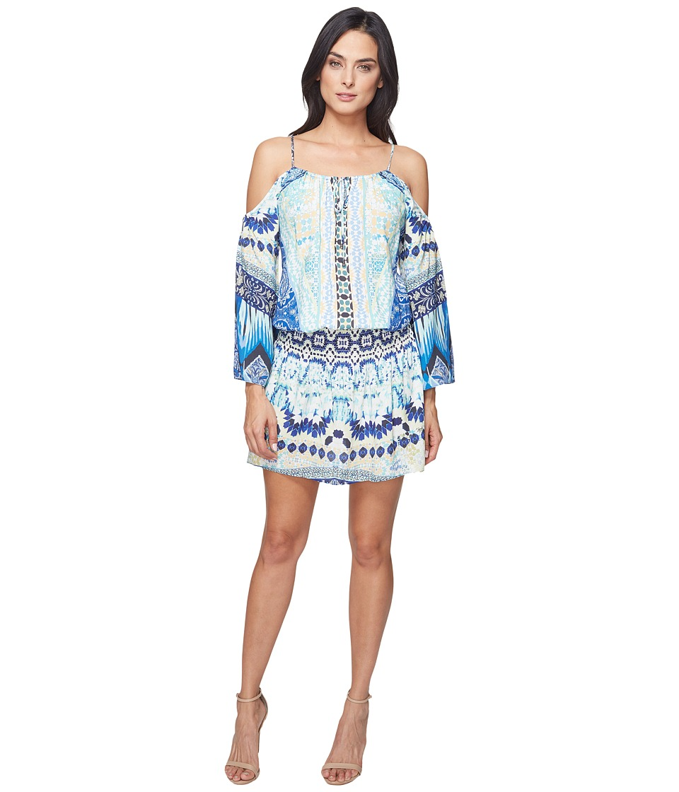 Hale Bob - Force of Nature Woven Dress (Blue) Women's Dress