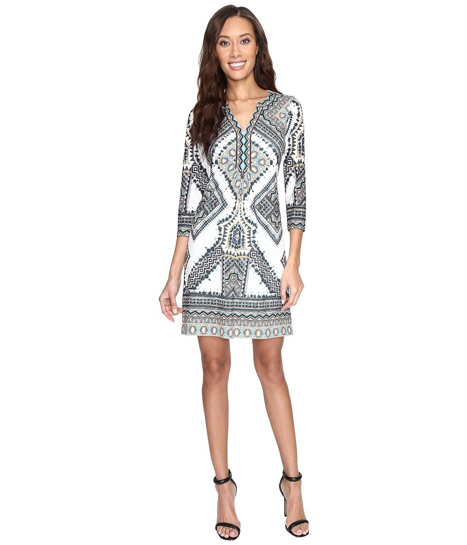 Hale Bob - Road Tripping Matte Micofiber Jersey Dress (Beige) Women's Dress