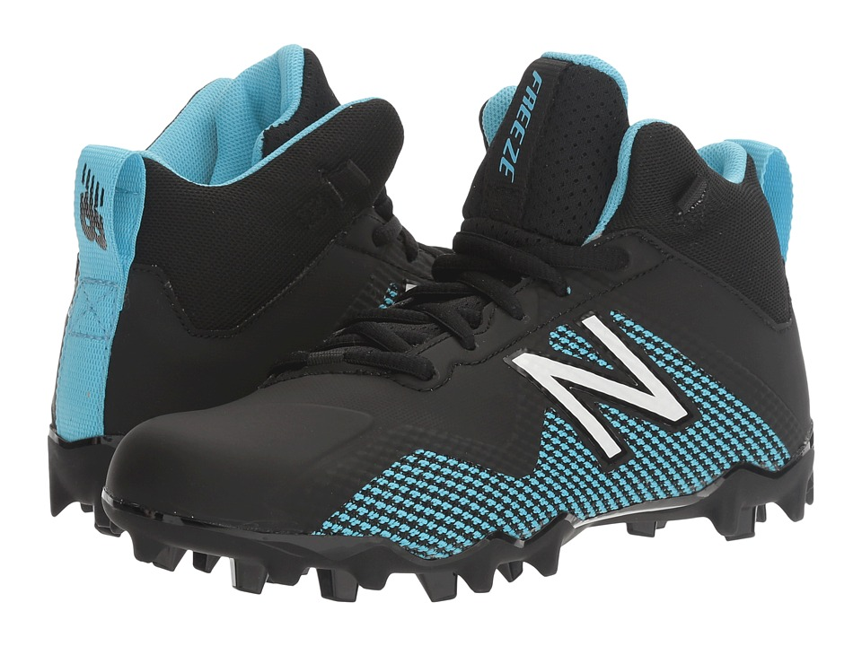 New Balance Kids Freeze LX Jr Cleat (Little Kid/Big Kid) (Black/Blue) Boys Shoes