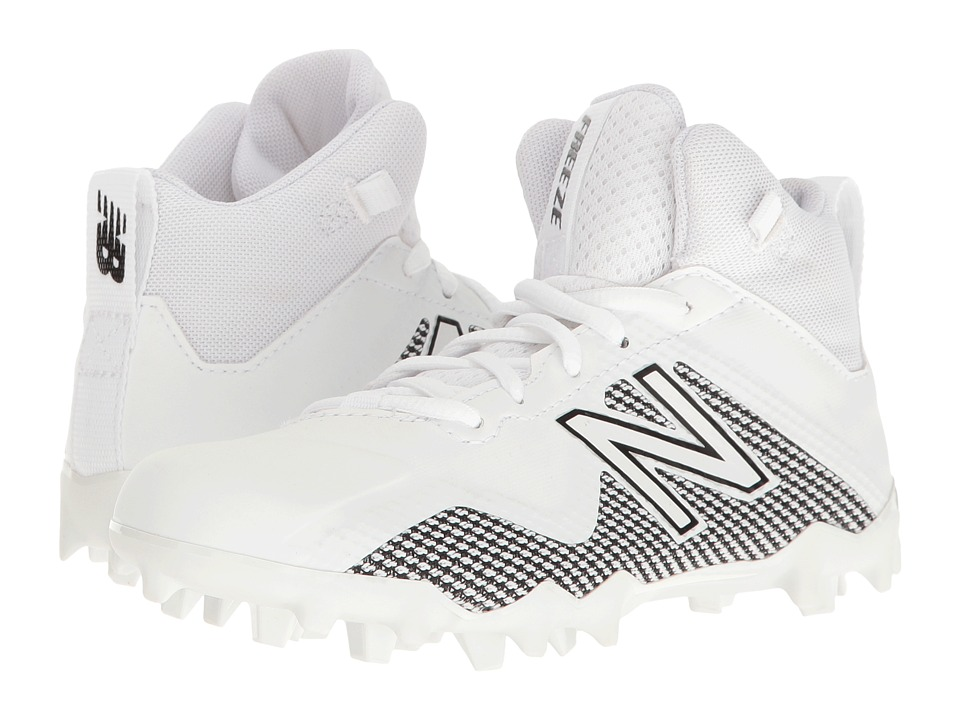 New Balance Kids Freeze LX Jr Cleat (Little Kid/Big Kid) (White/Black) Boys Shoes