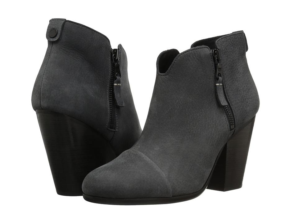 rag & bone - Margot Boot (Charcoal Nubuck) Women's Boots