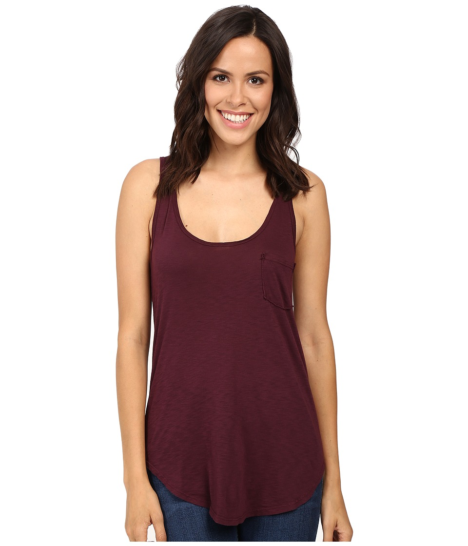 LAmade - Boyfriend Tank w/ Pocket (Acai) Women's Sleeveless