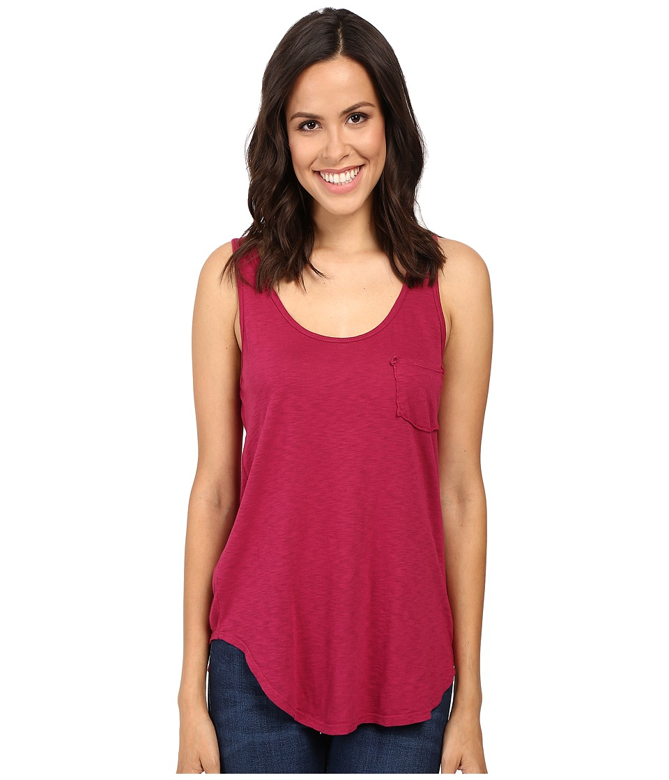LAmade - Boyfriend Tank w/ Pocket (Hot Berry) Women's Sleeveless