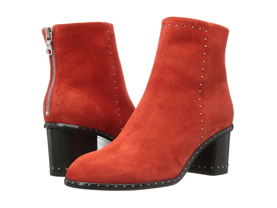 rag & bone - Willow Stud Boot (Red Suede) Women's Boots