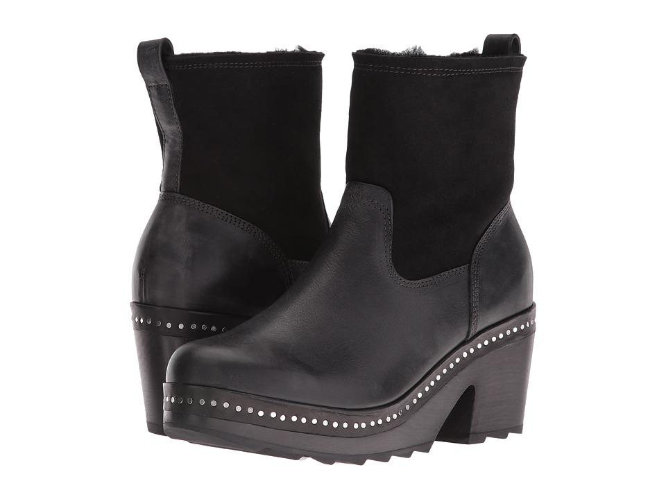 rag & bone - Nelson Clog (Black/Shearling) Women's Clog Shoes