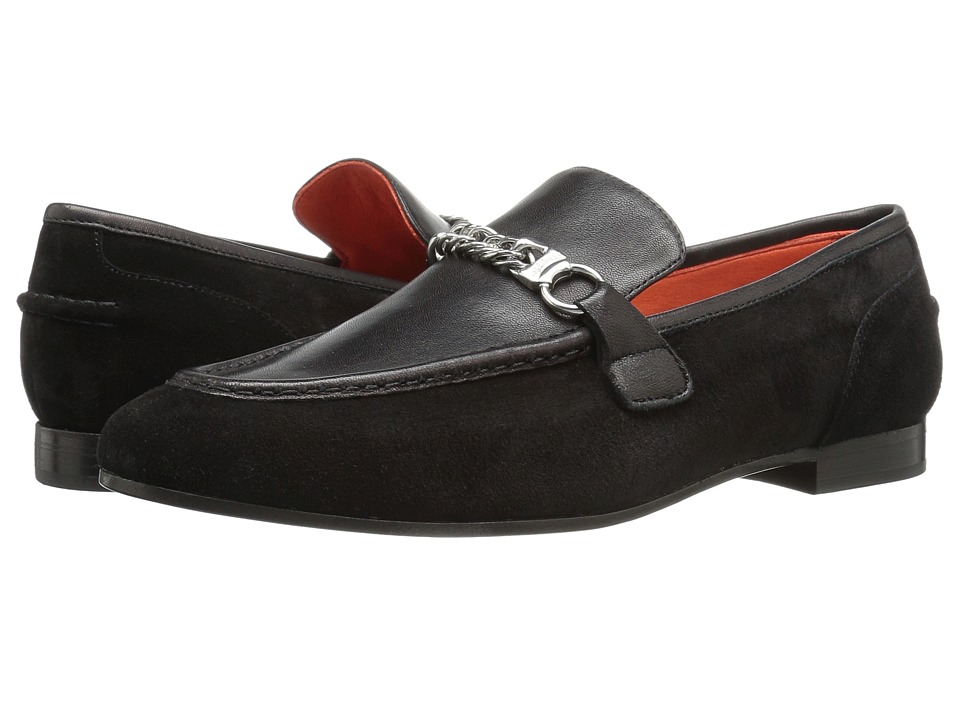 rag & bone - Cooper Loafer (Black Suede) Women's Shoes