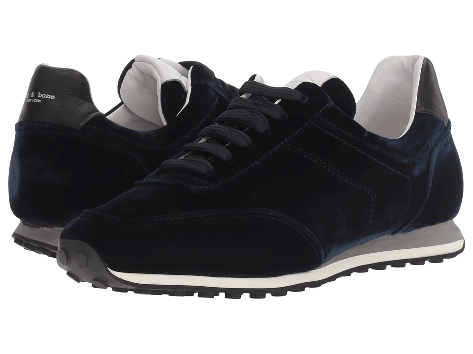 rag & bone - Dylan Runner (Navy Velvet) Women's Shoes