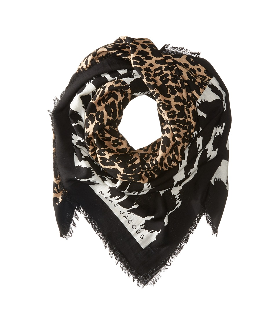 Marc Jacobs - Dotted Leopard Stole (Bone Multi) Scarves