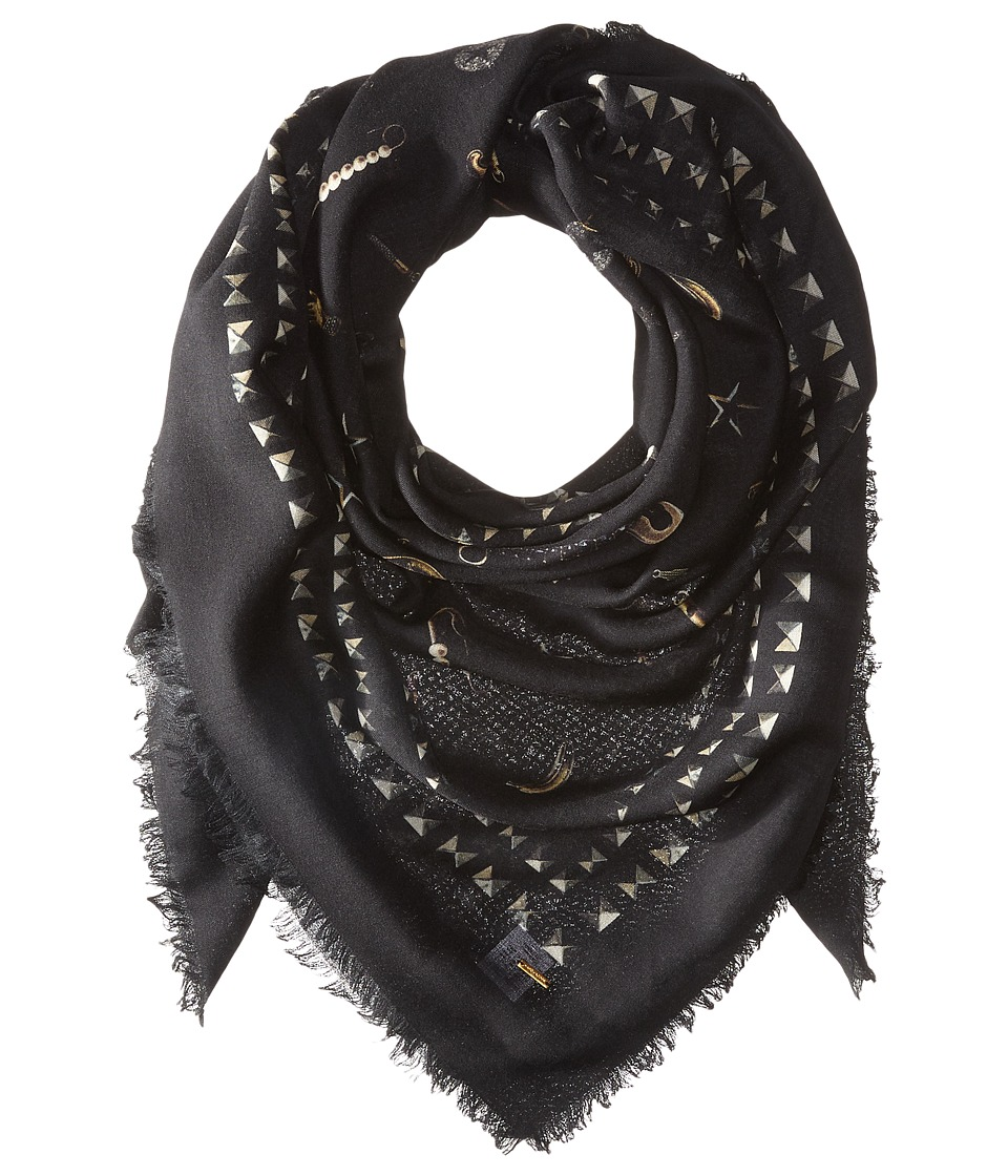 Marc Jacobs - New York Charms Shawl (Black Multi) Scarves