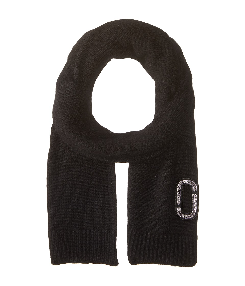 Marc Jacobs - Classic Cashmere Scarf (Black) Scarves