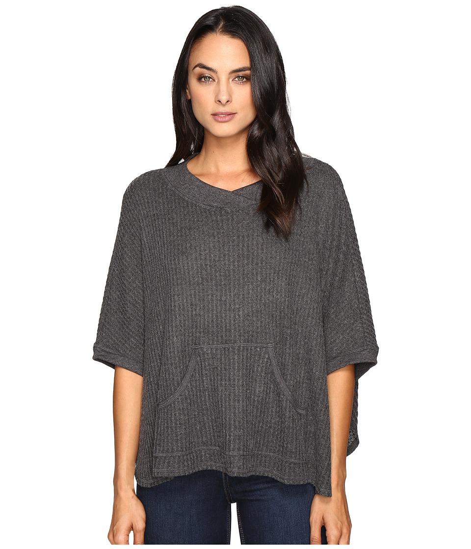 LAmade - Slopes Poncho (Charcoal) Women's Clothing