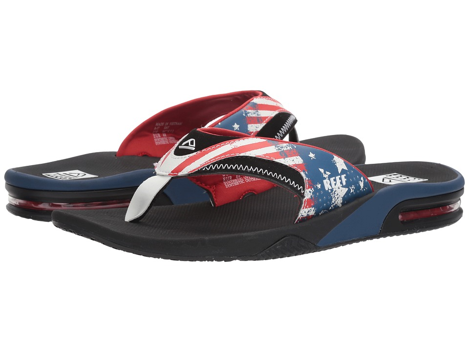 Reef - Fanning Prints (Stars & Stripes 3) Men's Sandals