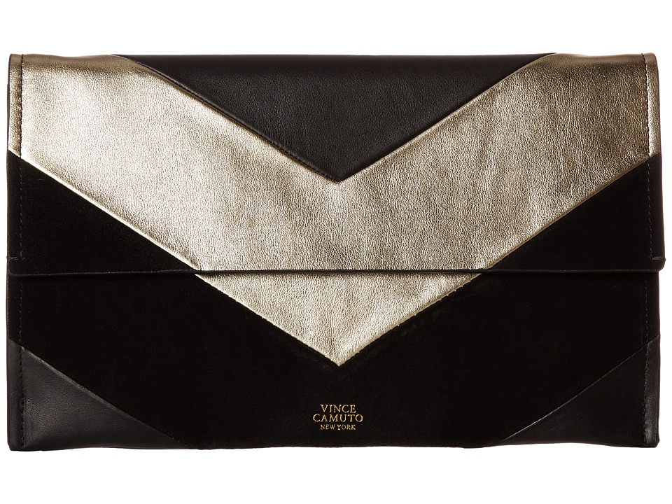 Vince Camuto - Fitzi Clutch (Black/Treasure) Clutch Handbags