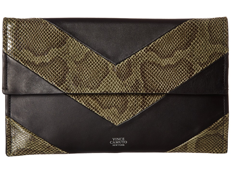 Vince Camuto - Fitzi Clutch (Black/Kale) Clutch Handbags