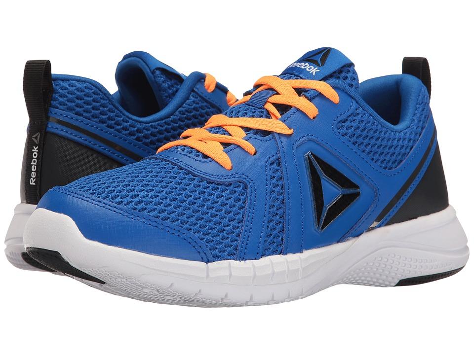 Reebok Kids - Print Run 2.0 (Big Kid) (Awesome Blue/Lead/Fire Spark/White) Boys Shoes