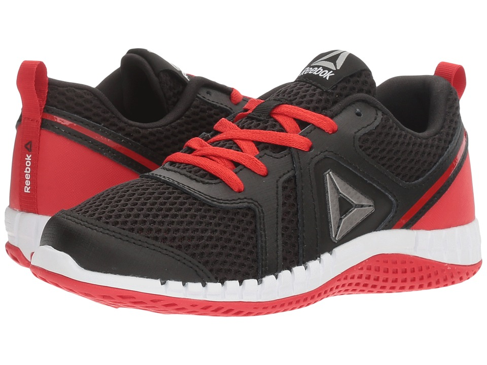 Reebok Kids - Print Run 2.0 (Little Kid) (Black/Primal Red/White) Boys Shoes