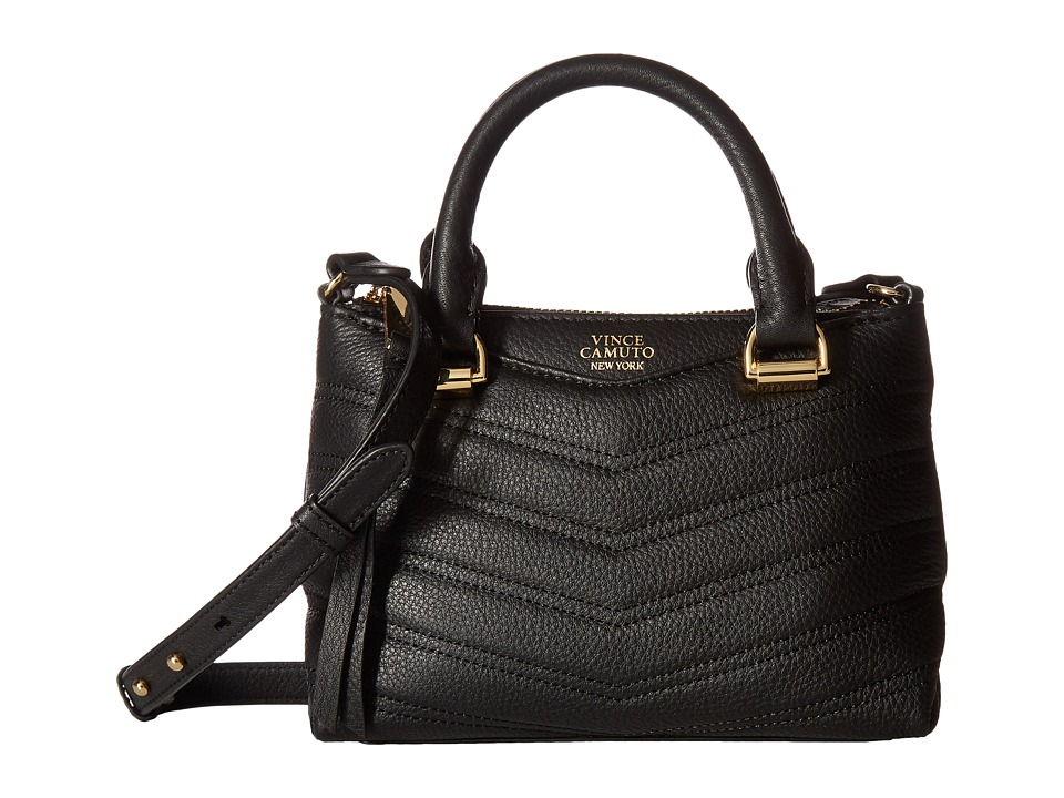 Vince Camuto - Daz Small Satchel (Black) Satchel Handbags