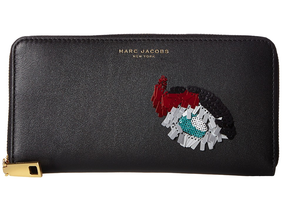 Marc Jacobs - Vintage Collage Standard Continental Wallet (Black) Wallet Handbags