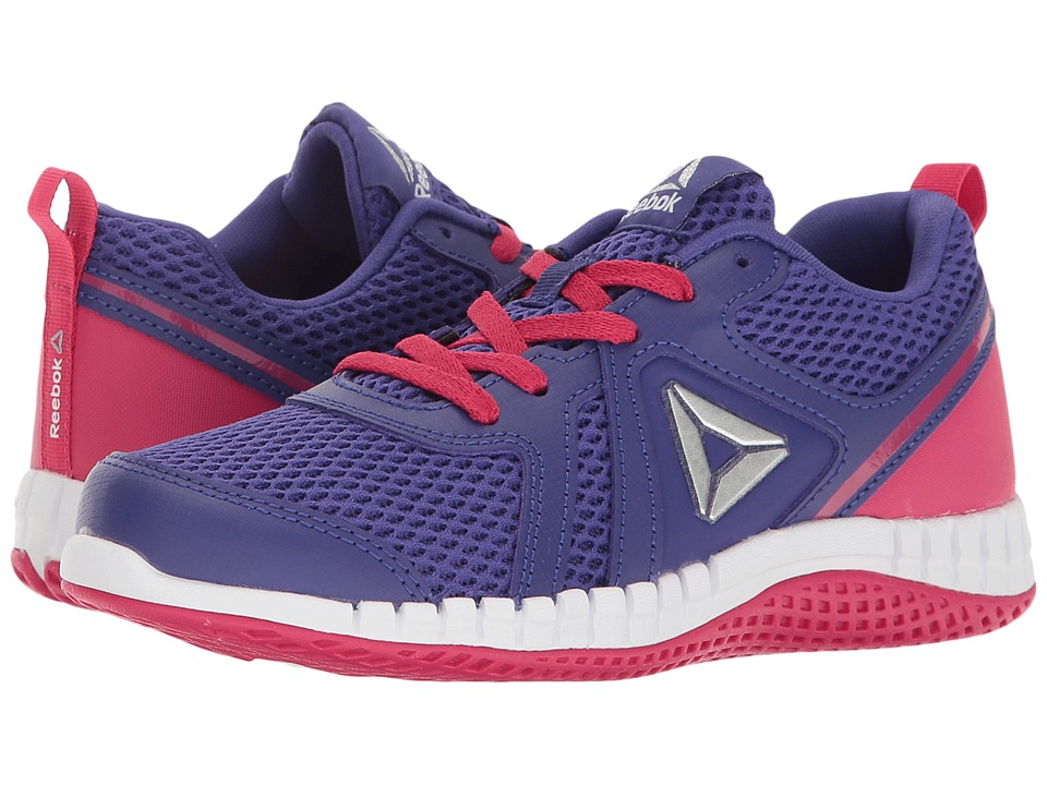 Reebok Kids - Print Run 2.0 (Little Kid) (Team Purple/Pink Craze/White) Girls Shoes