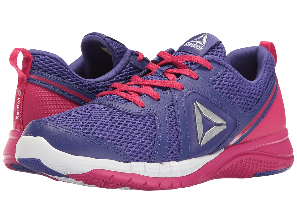 Reebok Kids - Print Run 2.0 (Big Kid) (Team Purple/Pink Craze/White) Girls Shoes
