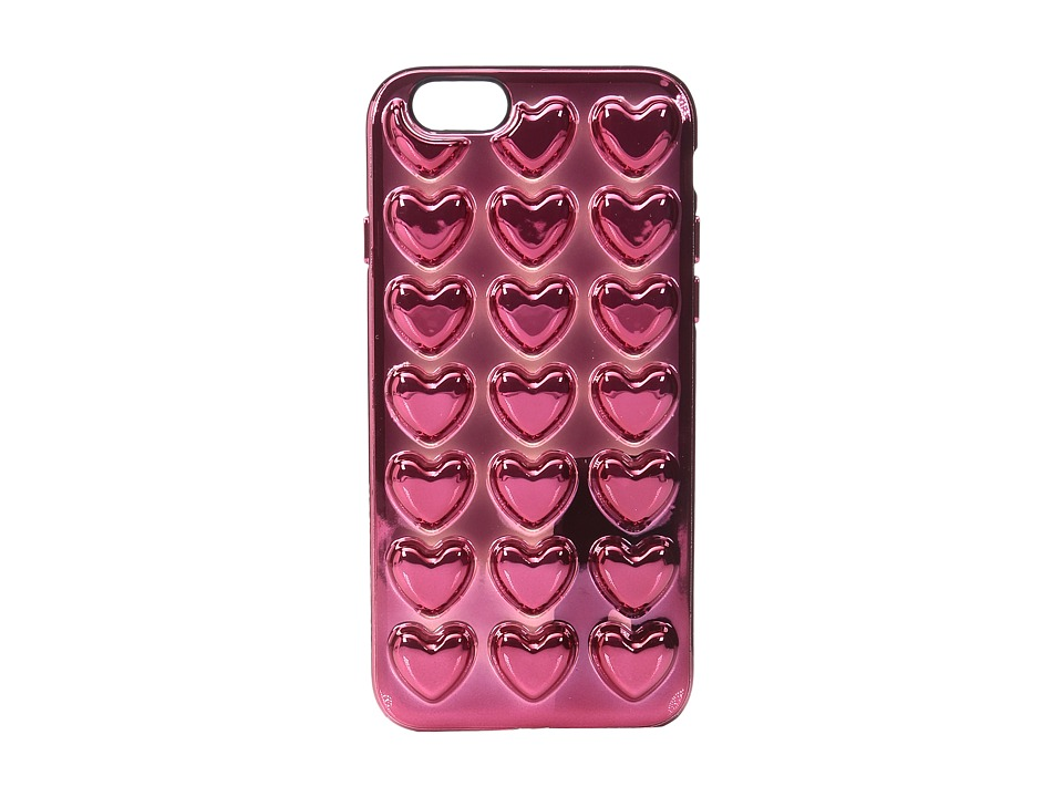 Marc Jacobs - Metallic Heart iPhone 6S Case (Magenta) Cell Phone Case
