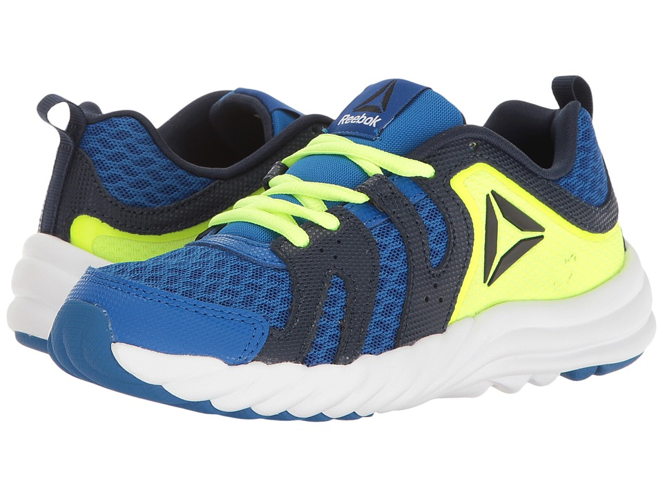 Reebok Kids - Royal Thunder (Little Kid) (Awesome Blue/Collegiate Navy/Solar Yellow/White/Black) Boys Shoes