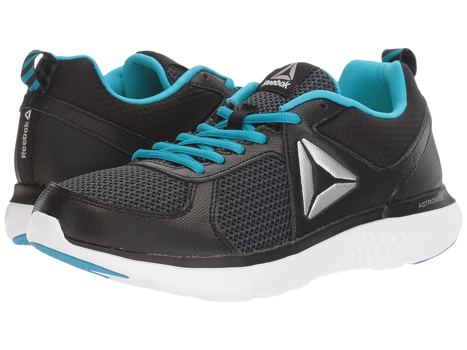 Reebok Kids Astroride (Big Kid) (Black/White/Caribbean Teal) Girls Shoes