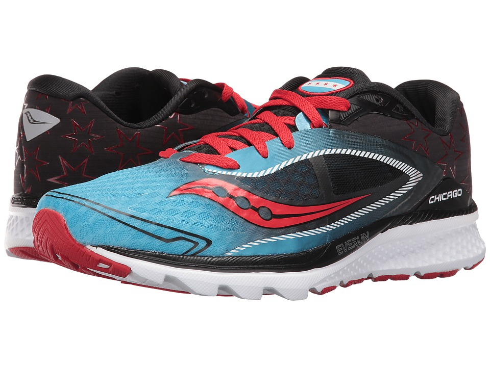 Saucony - Kinvara 7 (Blue/Black/Red) Men's Shoes