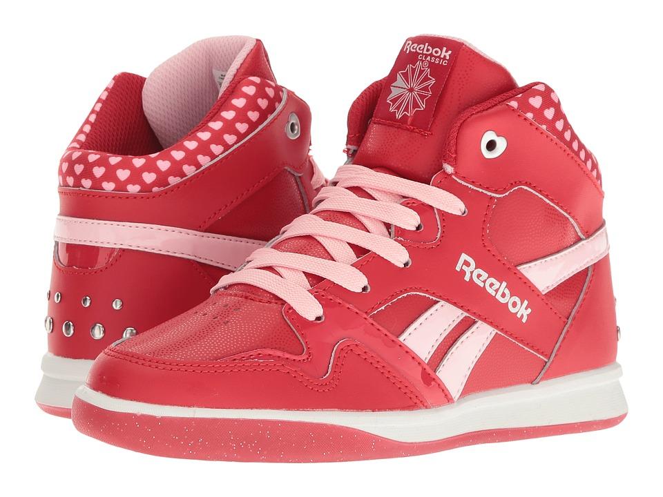 Reebok Kids - Street Stud Mid (Little Kid/Big Kid) (Excellent Red/Porcelain Pink) Girls Shoes