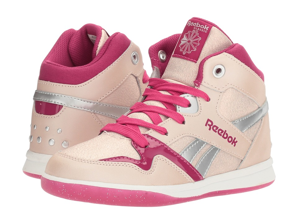 Reebok Kids - Street Stud Mid (Little Kid/Big Kid) (Rose Gold/Manic Cherry/Pink Craze/Silver Metallic) Girls Shoes