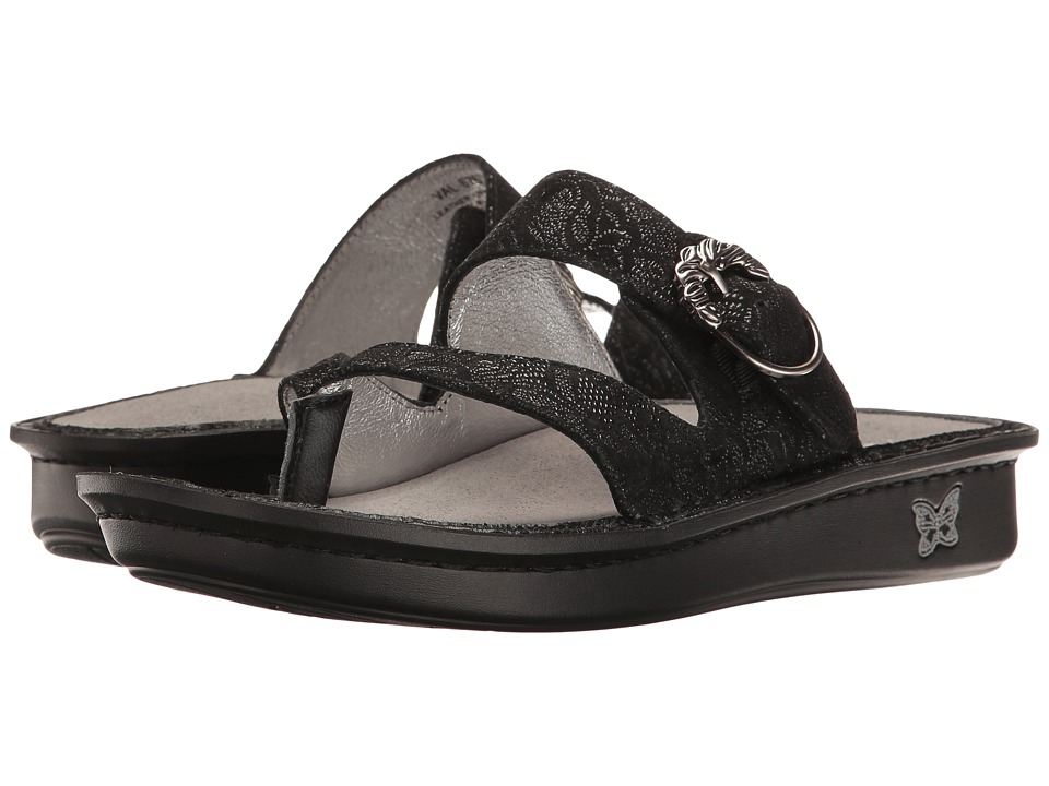 Alegria - Valentina (Black Leaf) Women's Sandals