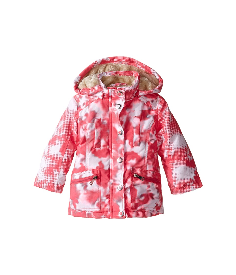Urban Republic Kids - Peach Finish Microfiber Jacket (Toddler) (Pink/White) Girl's Coat