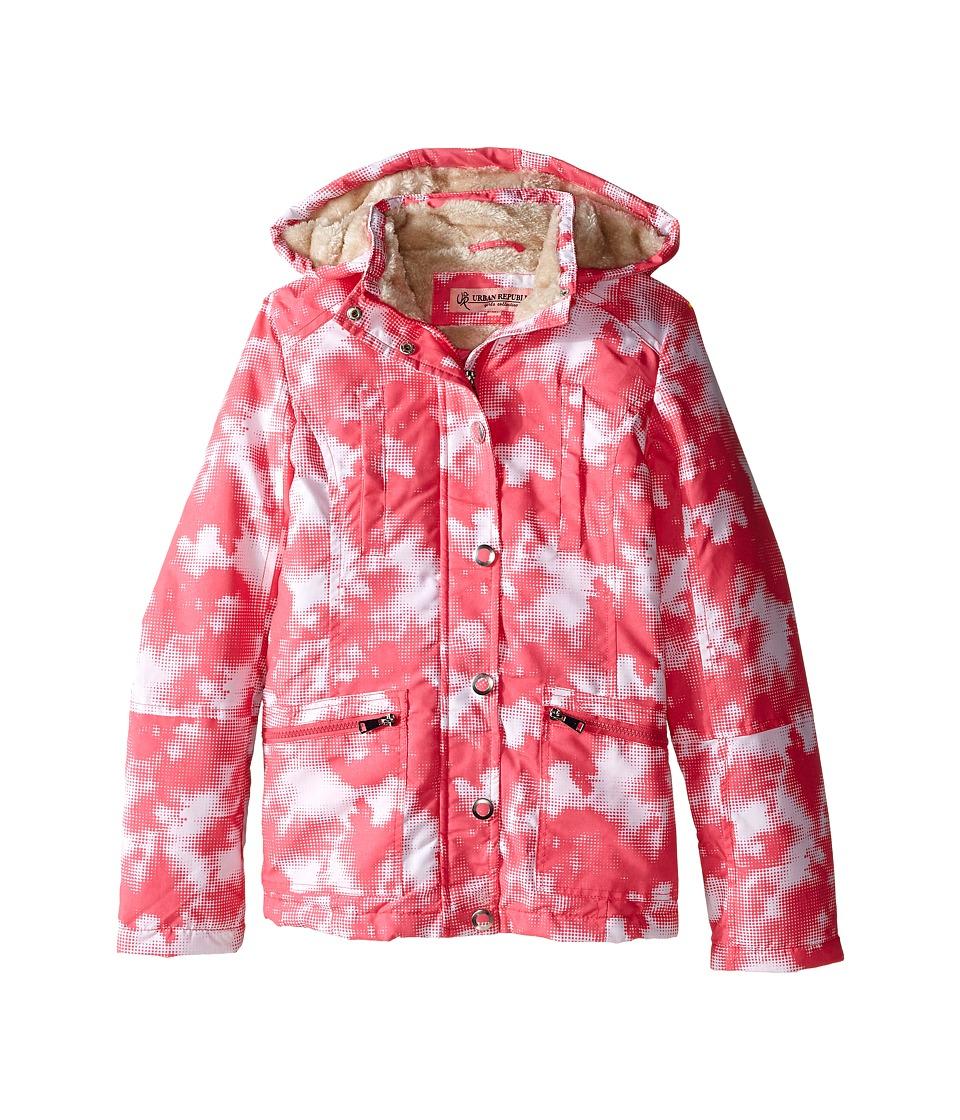 Urban Republic Kids - Peach Finish Microfiber Jacket (Little Kids/Big Kids) (Pink/White) Girl's Coat