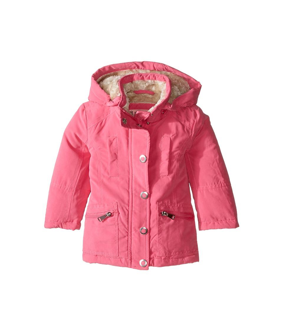 Urban Republic Kids - Peach Finish Microfiber Jacket (Toddler) (Pink) Girl's Coat