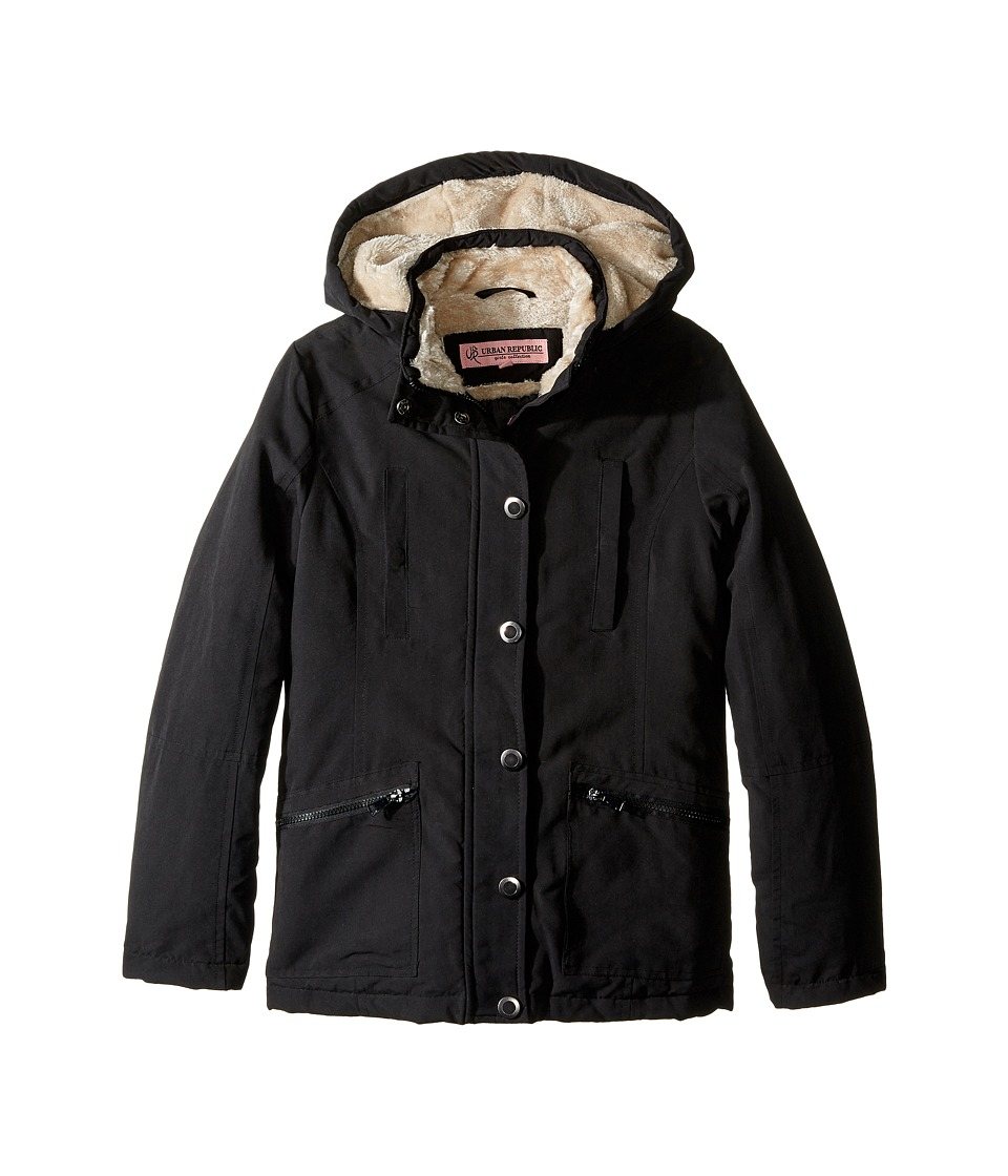 Urban Republic Kids - Peach Finish Microfiber Jacket (Little Kids/Big Kids) (Black) Girl's Coat