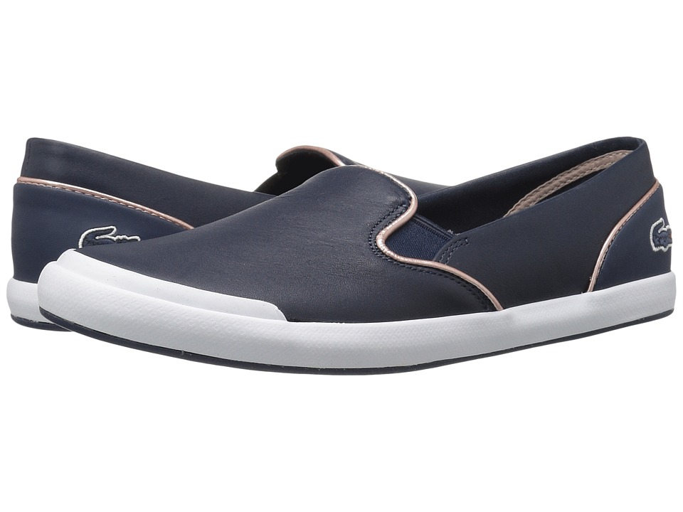 Lacoste - Lancelle Slip-On 316 1 (Navy) Women's Shoes