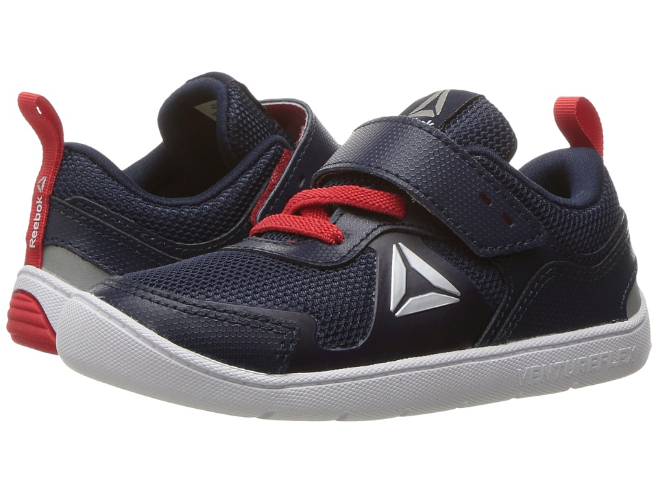 Reebok Kids - Ventureflex Stride 5.0 (Toddler) (Navy/Primal Red/White) Boys Shoes