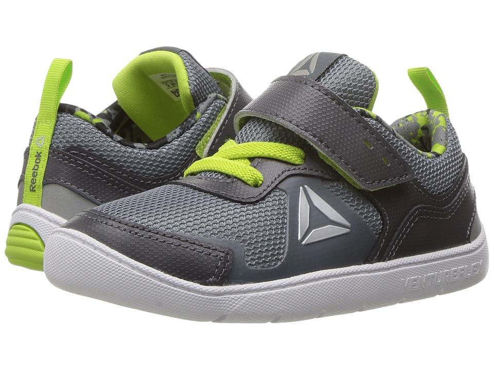 Reebok Kids - Ventureflex Stride 5.0 (Toddler) (Ash Grey/Asteroid Dust/Kiwi Green/White) Boys Shoes