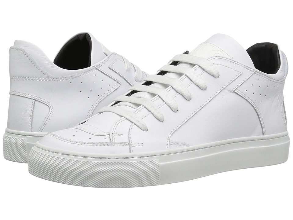 MM6 Maison Margiela - Classic Low Lace-Up Sneaker (White Leather) Women's Shoes