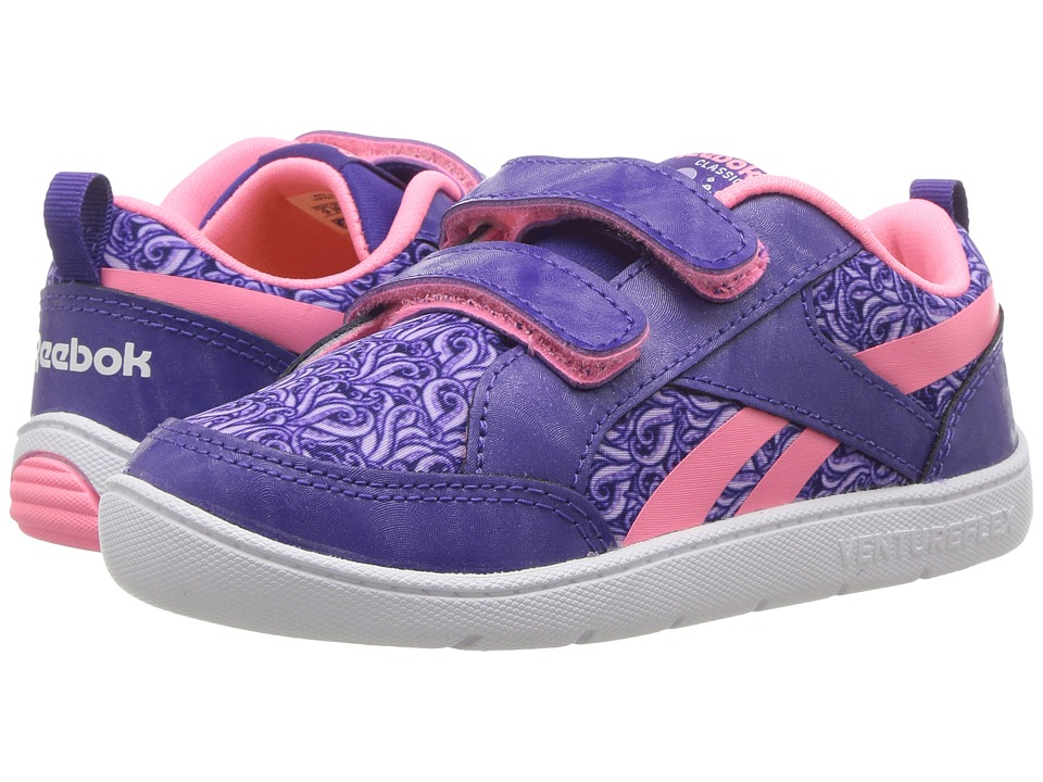 Reebok Kids - Ventureflex Critter Feet (Toddler) (Team Purple/Lavender/Peppy Pink/White) Girls Shoes